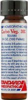 Standard Homeopathic Carbo Veg. 30C Pellets, Natural Relief of Nausea, Heartburn or Gas, 160 Count ()