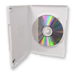 Americopy 100 pcs Standard White DVD Case 14mm