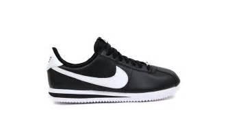 Black & Silver Leather Sneaker - Nike Mens Cortez Basic Leather Black/White/Metallic Silver Casual Shoe 12