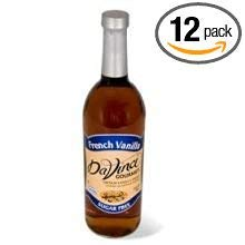 Kerry Food and Beverage Da Vinci Sugar Free French Vanilla Flavoring Syrup, 750 Milliliter -- 12 per case.