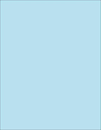Blue 50 Sheet Pack - 65 lb. (176 gsm) Cover Card Stock, 8-1/2 x 11