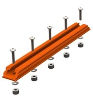 YakAttack Geartrac Spectralite 8'' (Orange) 1 pk W/ mounting hardware