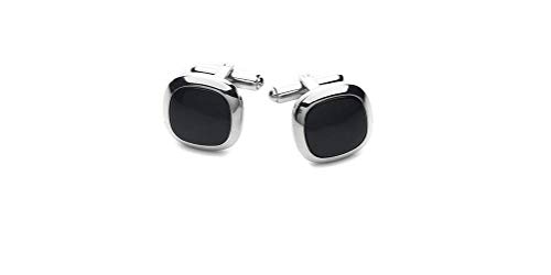 - RoseCo United Men's Cufflinks Stainless Steel | Choose Color Mother of Pearl or Black Onyx | with Shiny Silver Trimming | Cuff Links Looks and Feel Sharp | Cool and Fashionable with Gift Box