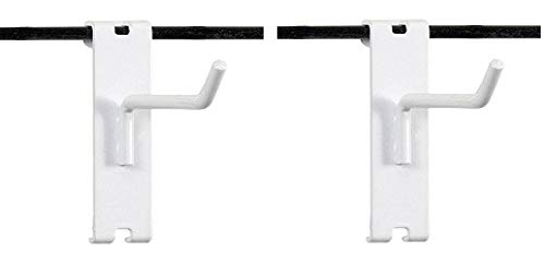 KC Store Fixtures A04704 Gridwall Hook, 4'' Long, 1/4'' Wire, White (Pack of 100) (2-(Pack)) by KCF (Image #1)