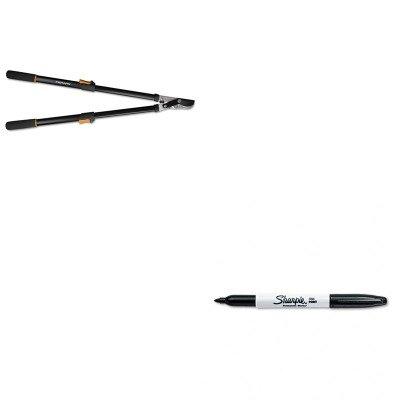 KITFSK91686935JSAN30001 - Value Kit - Fiskars Telescoping Power-Lever Bypass Lopper (FSK91686935J) and Sharpie Permanent Marker (SAN30001)