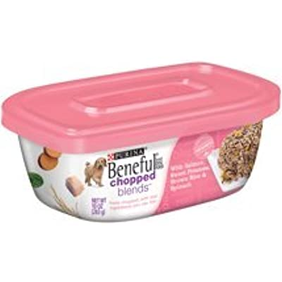 6 Tubs of Purina Beneful Chopped Blends with Salmon, Sweet Potatoes, Brown Rice & Spinach Wet Dog Food, 10 Oz ea