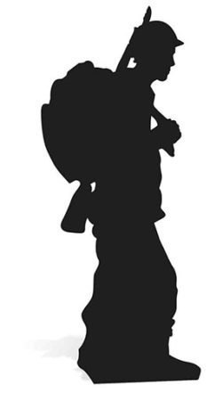 Star Cutouts SC862 Soldier Silhouette Cardboard Cut out by Star Cutouts Ltd