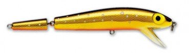 Storm Original Jointed ThunderStick Fishing Lure, Metallic Gold Chartreuse Specks