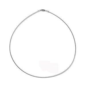 bc609a0e7 1001 Bijoux - Collier cable argent oméga ronde: Amazon.fr: Bijoux