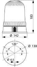 ASTRAL BLUE ROTATING BEACON FLASHER WARNING LIGHT 12V 24V EMERGENCY H1 171019