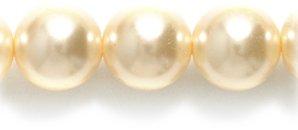 (Preciosa Ornela Imitation Round Glass Pearl, 8-mm, Victorian Ivory, 80-Pack)