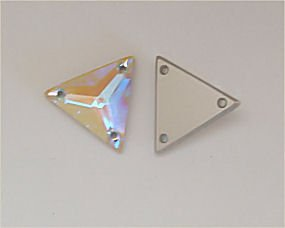 SWAROVSKI 3270 Sew On FlatBack TRIANGLE Crystal AB 22mm (Sew On Crystals Swarovski)