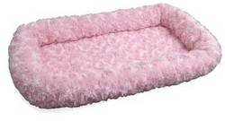 NAP Pet Bed Ultra Plush Bolster Pet Bed, Strawberry, 13-Inch by 22-Inch, My Pet Supplies