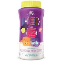 U-Cubes Children's Multi-Vitamin and Mineral Gummies, 120 Gummies (Pack of 3)