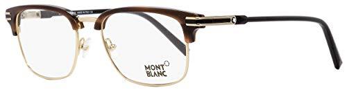 Mont Blanc MB0669 Eyeglass Frames - Shiny Dark Brown Frame, 53 mm Lens Diameter MB066953048