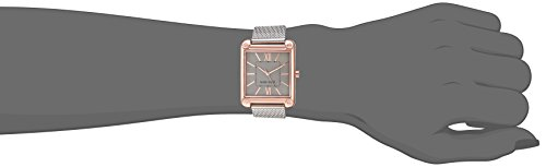 Nine West Women's Rose Gold-Tone and Silver-Tone Mesh Bracelet Watch