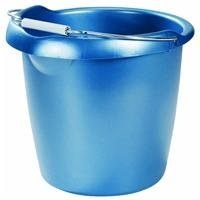 Rubbermaid FG296900ROYBL Roughneck Round Bucket, 15-Quart, Blue