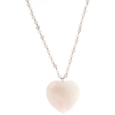 Lola Rose Tracie – Collier Femme –  avec agate blanche