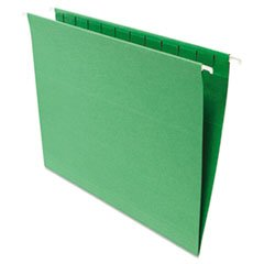 Universal 14117 Hanging File Folders, .2 Tab, 11 Point Stock, Letter, Green, 25-Box
