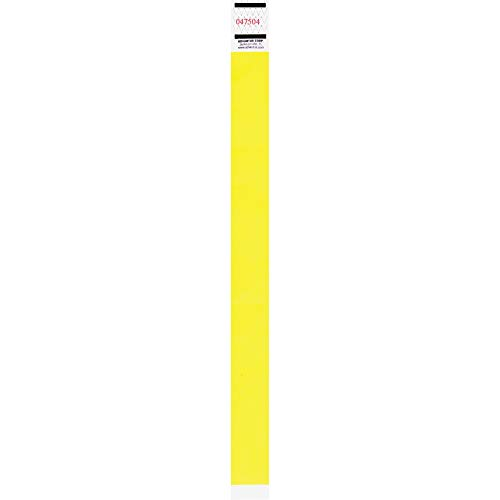 Advantus Tyvek Wristbands, Sequentially Numbered, Neon Yellow, Pack of 500 (91123)