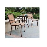 Mainstays Sand Dune 3-Piece Outdoor Bistro Set, Seats 2 Review