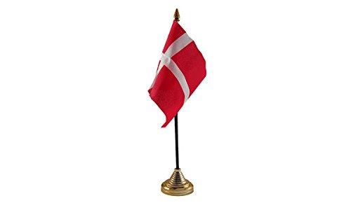Las Banderas Dinamarca bandera de mesa: Amazon.es: Jardín
