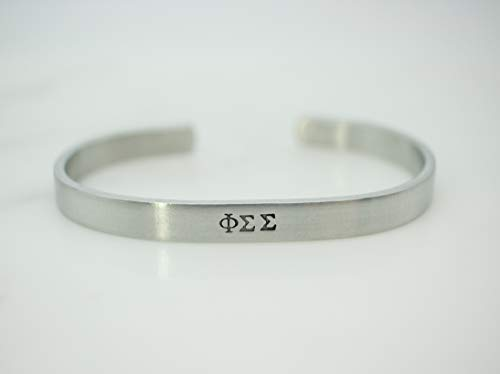 - Phi Sigma Sigma Sorority Bracelet Greek Life Bid Night Gift Big Little Beta Gamma Alpha Delta Sigma