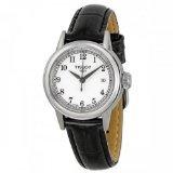 Tissot Carson White Dial Black Leather Ladies Watch T0852101601200