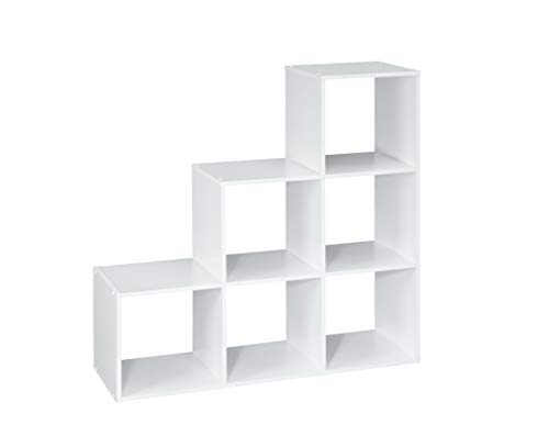 ClosetMaid 1043 Cubeicals Organizer, 3-2-1 Cube, White (White Modular Bookcase)