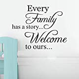Wall Stickers,Geyou Removable Family Quotes Sayings Wall Sticker For Kids Home Living Room Decor Art Vinyl Mural Decal New (A)