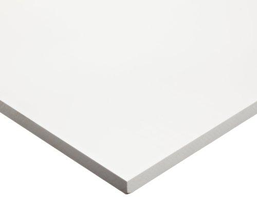 PVC (Polyvinyl Chloride) Sheet, Opaque White, Standard Tolerance, UL 94/ASTM D1784, 1/4