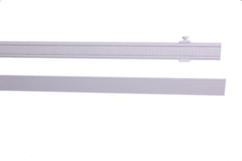 IXX-Design Aluminium Paneelwagen, Schiebepaneel, Rollwagen, mit Beschwerungsstab, weiß, 45 cm