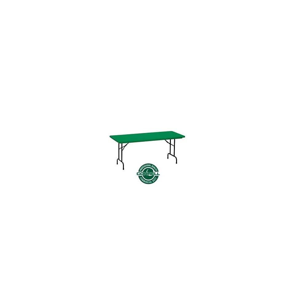 Blow Molded Commercial Duty Folding Table 30 X 60, Green