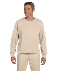 Jerzees Super Sweats NuBlend Fleece Crewneck Sweatshirt-L (Sandstone)