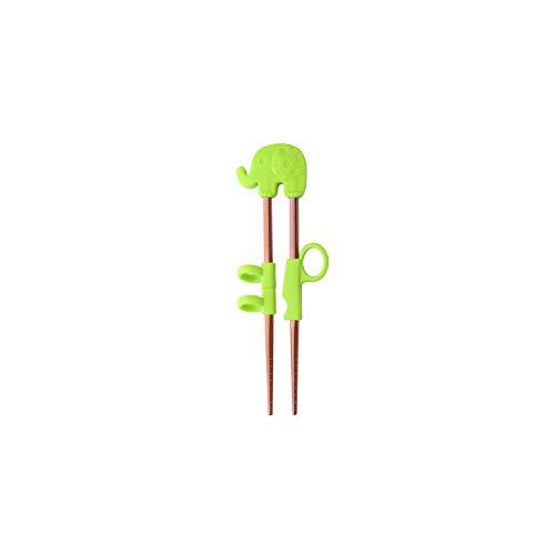 - 2 Pairs Chopsticks Kids Stainless Steel Learning Chop Sticks Reusable Training Food sticks Cute Children Tableware,E green-rose gold 2