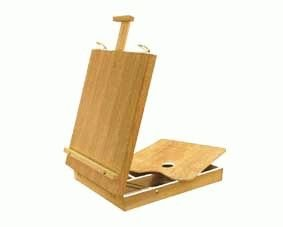 Artist Table Top Sketch Easel box with Wooden Palette Tobgi