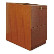 Lorell Pedestal Desk, File/File, 15-3/4 by 22 by 27-1/2-Inch, Cherry