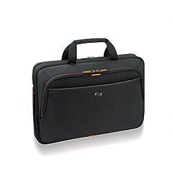 Solo Urban Laptop Briefcase Black/Orange UBN101-4