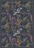 Joy Carpets Kid Essentials Music & Special Needs Virtuoso Rug, Gray, 5'4'' x 7'8'' by Joy Carpets