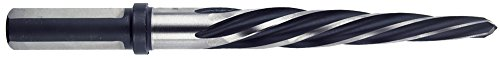 (Morse Cutting Tools 21004 Construction Taper Reamer, High-Speed Steel, Black and Silver Finish, 3-Flat Shank, 5/8