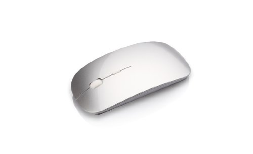 (Relaunch Aggregator MS-102SSBT MS102 Bluetooth Laser Mouse for MAC (SIL)