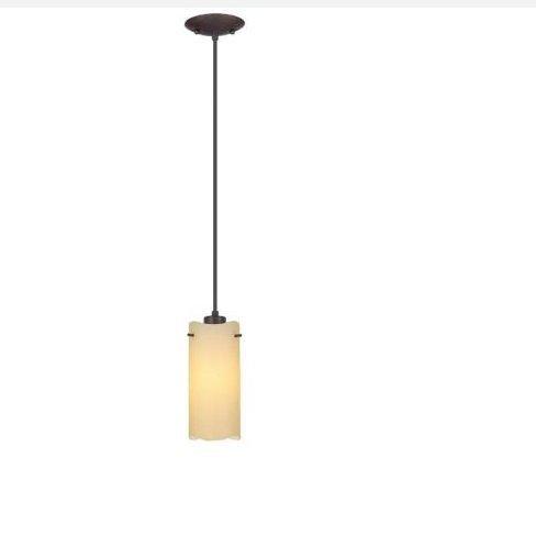 Severo 1-Light Antique Brown Hanging Mini Pendant