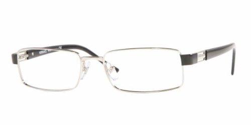 f3eb917dcd4 Designer Glasses Frame VERSACE VE1120 SILVER   BLANK LENS  (VE1120-1000-52-16-135)  Amazon.co.uk  Clothing