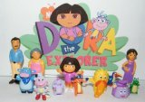 Boots Dora Cake - PARK AVE Dora The Explorer Deluxe Figure Set Toy Playset of 12 with Dora, Boots, Tico, Troll, Parents, Grandma and More - Perfect for Kids Nickelodeon Birthday Cake Toppers