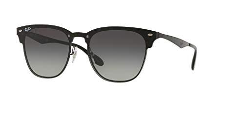 Ray-Ban RB3576N BLAZE CLUBMASTER 153/11 47M Demi Gloss Black/Grey Dark Grey Gradient Sunglasses For Men For ()