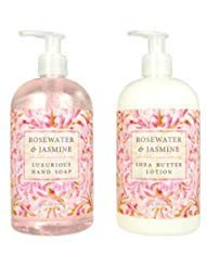 (Greenwich Bay Trading Hand Soap & Hand and Body Lotion, 16 Ounce, 2 pack Bundle Set (Rosewater Jasmine) )