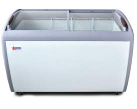 OMCAN 50-INCH ICE CREAM DISPLAY FREEZER WITH 12.8 CU. FT CAPACITY