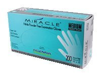 Adenna MIR166 Miracle Nitrile PF Exam Gloves, Large, 200 Count (Pack of 10)