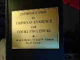 img - for Introduction to Criminal Evidence and Court Procedure by Julian R. Hanley (2003-01-03) book / textbook / text book