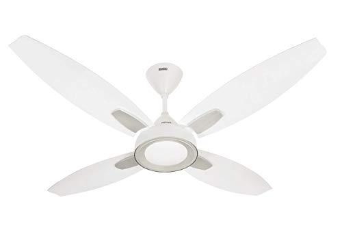 (Renewed) Usha Bloom Lily Goodbye Dust 1300mm Ceiling Fan (Sparkle White & Silver)